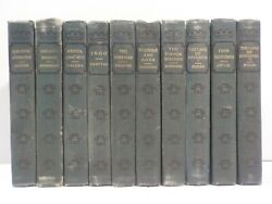 J 1886 P.f. Collier Antique Book Biographical Sketch Lot Set 10 Volumes Tolstoy+