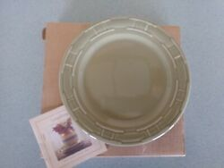 Longaberger Usa Pottery 9 Round Luncheon Plate Sage Green New W/box Lunch