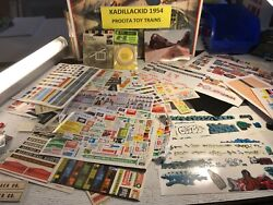 🚅 Ho - O Scale Set Of Signs, Graphics, More - Nice 👍 L988