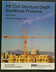 Pe Civil Structural Depth Six-minute Problems By Christine A. Subasic 2019, Tra