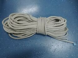 Anchor Rope Dock Line 1/2x169and039 Twisted 3 Strand Nylon White Marine Mooring Boat