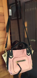 ORYANY Blush Pink Black Tignanello Liz Leather Purse Tote Crossbody Michael $69.99