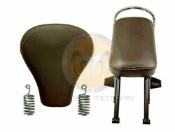 Royal Enfield Classic 500cc Front And Rear Pillion Passenger Seat With Spring