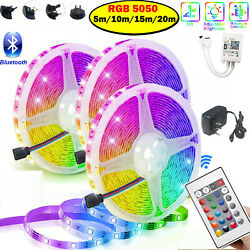 32ft 20m Flexible 5050 Rgb Led Smd Strip Light Remote Fairy Lights Room Tv Party