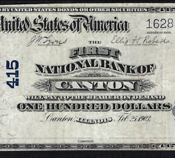 Il 1902 100 Date-back ♚♚cantonillinois♚♚ Pmg Vf 25 Only Two Known