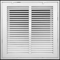 Heavy Duty Steel Return Air Filter Grille | Hvac Vent Cover Grill White