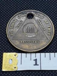 Alcoholics Anonymous Aa Xxviii 28 Years Recovery Medal Token Chip Coin Pendant