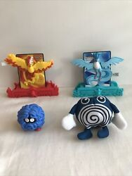 Pokemon Burger King The First Movie And PokÉmon Power 2 Cards Toys In Open Bags