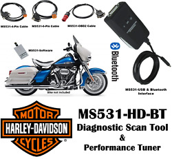 Ms531-hd-bt Harley Motorcycle Scan Tool - Diagnostic Scanner And Performance Tuner