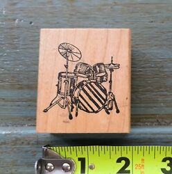 Vintage Drum Set Rubber Stamp By Rubber Duck Stamp Co. 1987