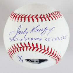 Sandy Koufax Signed Baseball Dodgers 4x Ws Champ - And03955 And03959 And03963 And03965 Le 3/4 -...