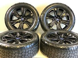 20 Ford F150 Black Wheels Rims Tires King Ranch Fit Truck Factory Oem Tires 4
