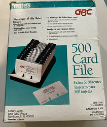 Gbc 500 Card File Slotted Business Card Holders