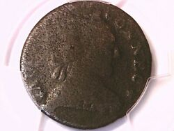 1788 Cent Pcgs Genuine Env. Dam- G Detail Mailed Bust Right Connecticut 40688927