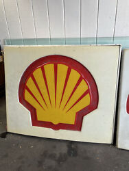 Shell Gas Station Sign Fuel Oil Large Man Cave Garage 61x51