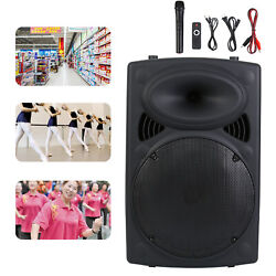 12in Professional Power Active Dj Pa Speaker Bluetooth Usb Remote Portable