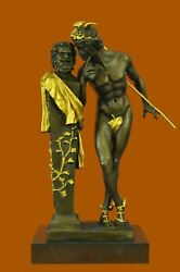 Nude Flying Mercury Bronze Statue Marble Sculpture Art Deco Roman Mythical Gil