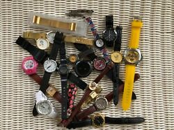 Lot Of Ladies Mens Watches , Fossil, Goer, Camel, Automatic