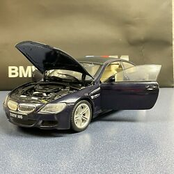 Jadi Model Craft Bmw M6 118 Scale Diecast Blue Black Top With Issues