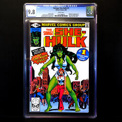 Savage She-hulk 1 🔥origin And 1st Appearance Of She-hulk 🔥 Cgc 9.8 White Pages