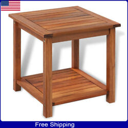 Side End Table Wooden Patio Coffee Tables Square Furniture For Indoor Outdoor