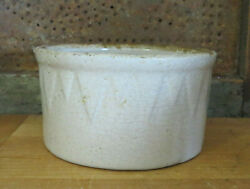 Old Ruckels White Hall Illinois Icicle Sawtooth Stoneware Butter Crock 1 Lb