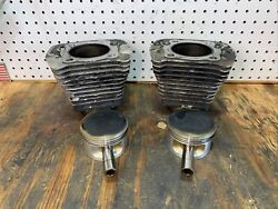86-87 Harley-davidson Sportster Xl 1100 Engine Motor Jugs Cylinders And Pistons