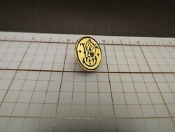 Smith And Wesson Firearms Logo Quality Made Lapel Hat Pin Enamel Brand New