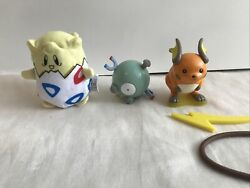 Pokemon Burger King The First Movie 3 New Toys W/ Cards Open Box Free Shipping