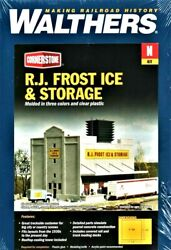 N Scale Walthers Cornerstone 933-3220 R. J. Frost Ice And Storage Building Kit