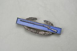 Wwii U.s. Combat Infantry Badge W/frosted Back - Sterling