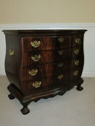 Drexel Heirlooms Flame Mahogany Bachelor Chest Hall Console 4 Drawer Dresser