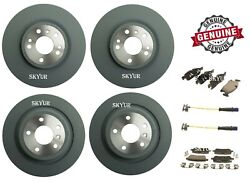 Front And Rear Rotors And Brake Pads Sets For Mercedes Gl Gle Gls Ml Genuine
