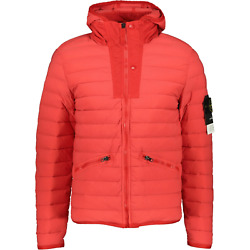 Stone Island Loom Woven Down Jacket Red