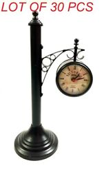Antique Victorian Double Sided Station Clock Nautical Maritime Table Decor Clock