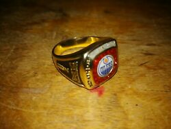 Stanley Cup Ring Champion Oilers Edmonton 1984 Molson Canadian