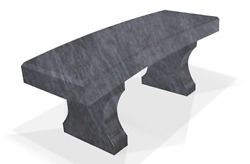Granite Memorial Bench Curved Seat Top- Engraving Available