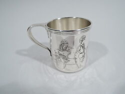 Mug - 4105c - Antique Christening Baby Cup - American Sterling Silver