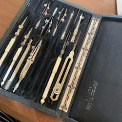 Ww2 Imperial Japanese Military Academy Compass Set Tool For Writing Operational