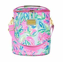 Lilly Pulitzer Pink Blue Green Insulated Soft Beach Cooler Totally Blossom $60.51