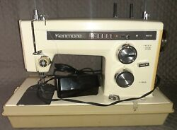 Vintage Sears Kenmore Portable Sewing Machine W Foot Pedal Model. Works Tested