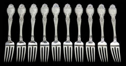 And Co Richelieu 10 Sterling Silver 7 1/2 Dinner Forks