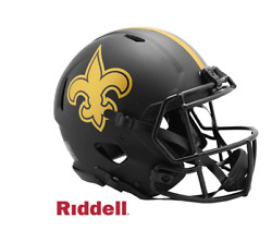 Nfl New Orleans Saints Riddell Authentic Full Size Speed Style Eclipse Helmet