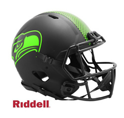 Nfl Seattle Seahawks Riddell Authentic Full Size Speed Style Eclipse Helmet