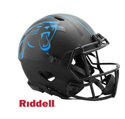 Nfl Carolina Panthers Riddell Authentic Full Size Speed Style Eclipse Helmet