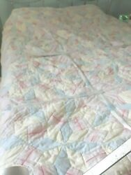 Vtg Cotton Quilt Cutter Crafts Or Repair Baby Christmas Stockings Shabby Chic