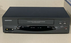 Daewoo Dv-t5dn Vcr Hi-fi 4 Head Vhs Cassette Player Tested Works Vcr Only