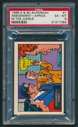 1968 A And Bc Superman Assignment Africa In The Jungle 1 Psa 6 Ex-mt First Card