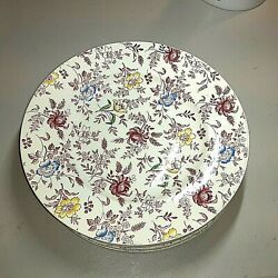 Empire Porcelainengland In Demand Chintz 8pink/multi-color Dinner Plates