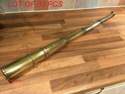 32 Inch Old Antique Brass Ships Navy Telescope Nautical Maritime Boat Scope